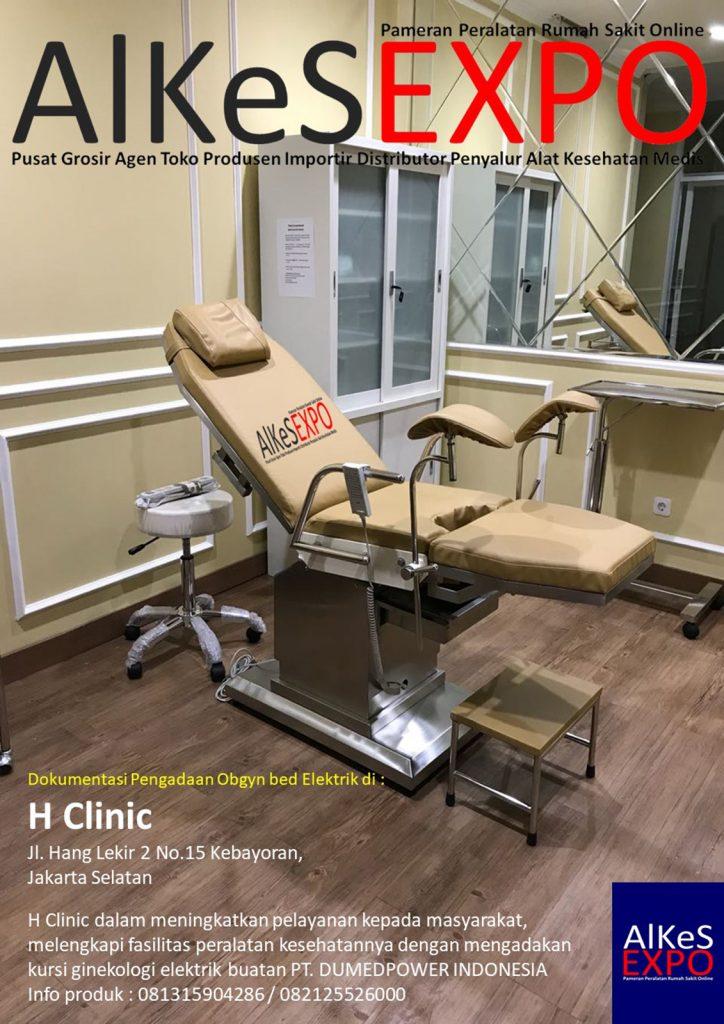 Dokumentasi Pengadaan Kursi Gynecolog Elektrik H Clinic Jakarta 2018