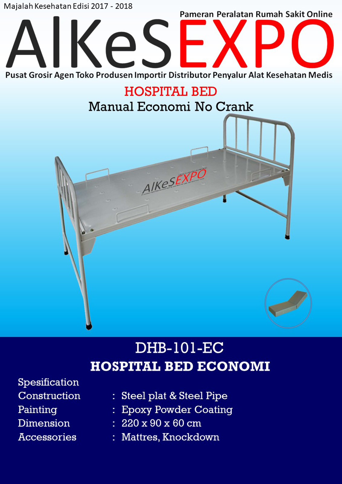 Hospital Bed Economi No Crank DHB-101-EC