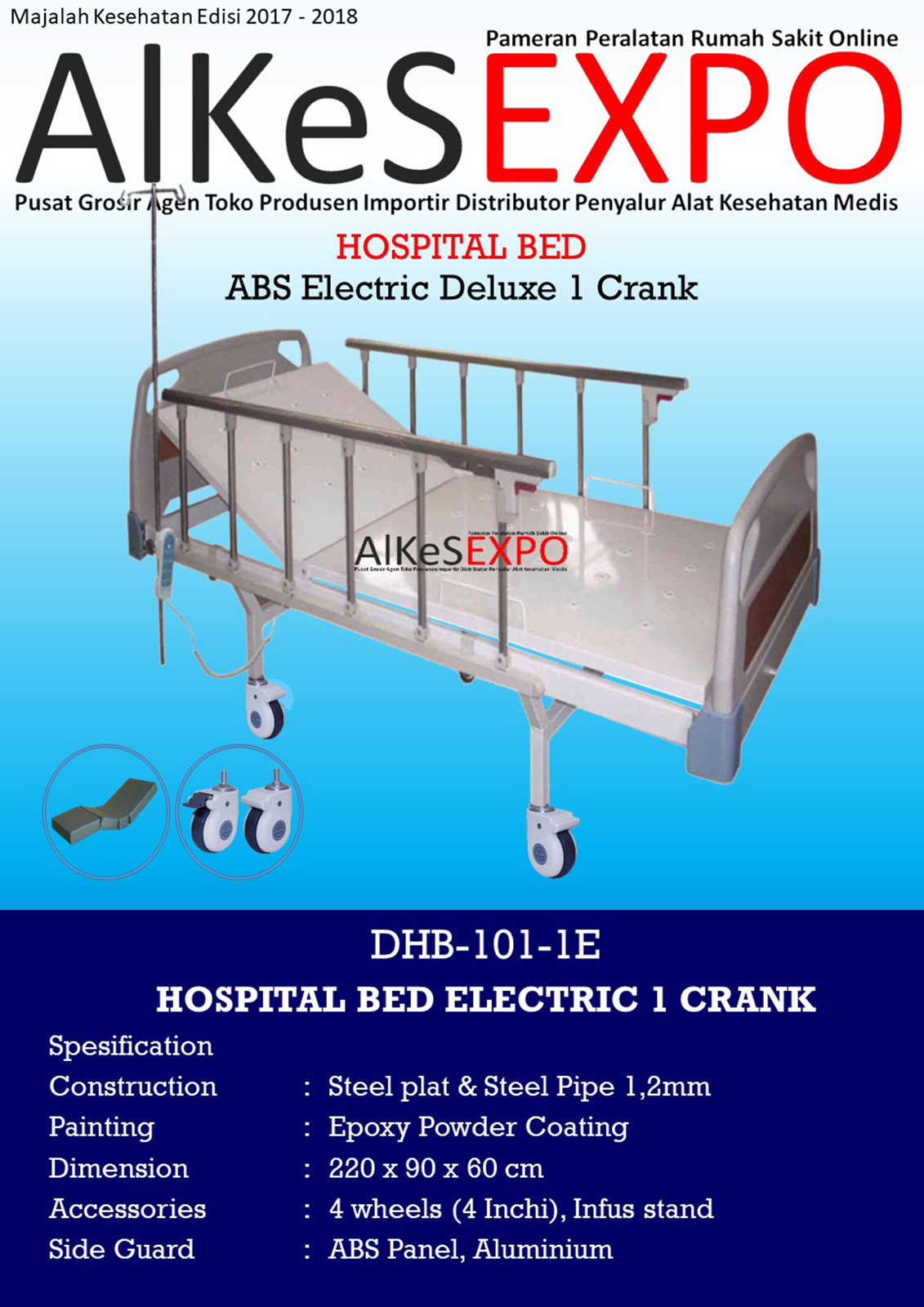 Hospital Bed Electric 1 Crank DHB-101-1E