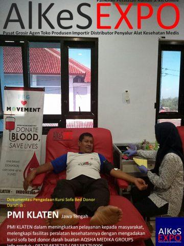 Pengadaan Kursi Sofa Donor Darah PMI Klaten Jateng 2018 oleh Aqsha Medika Groups