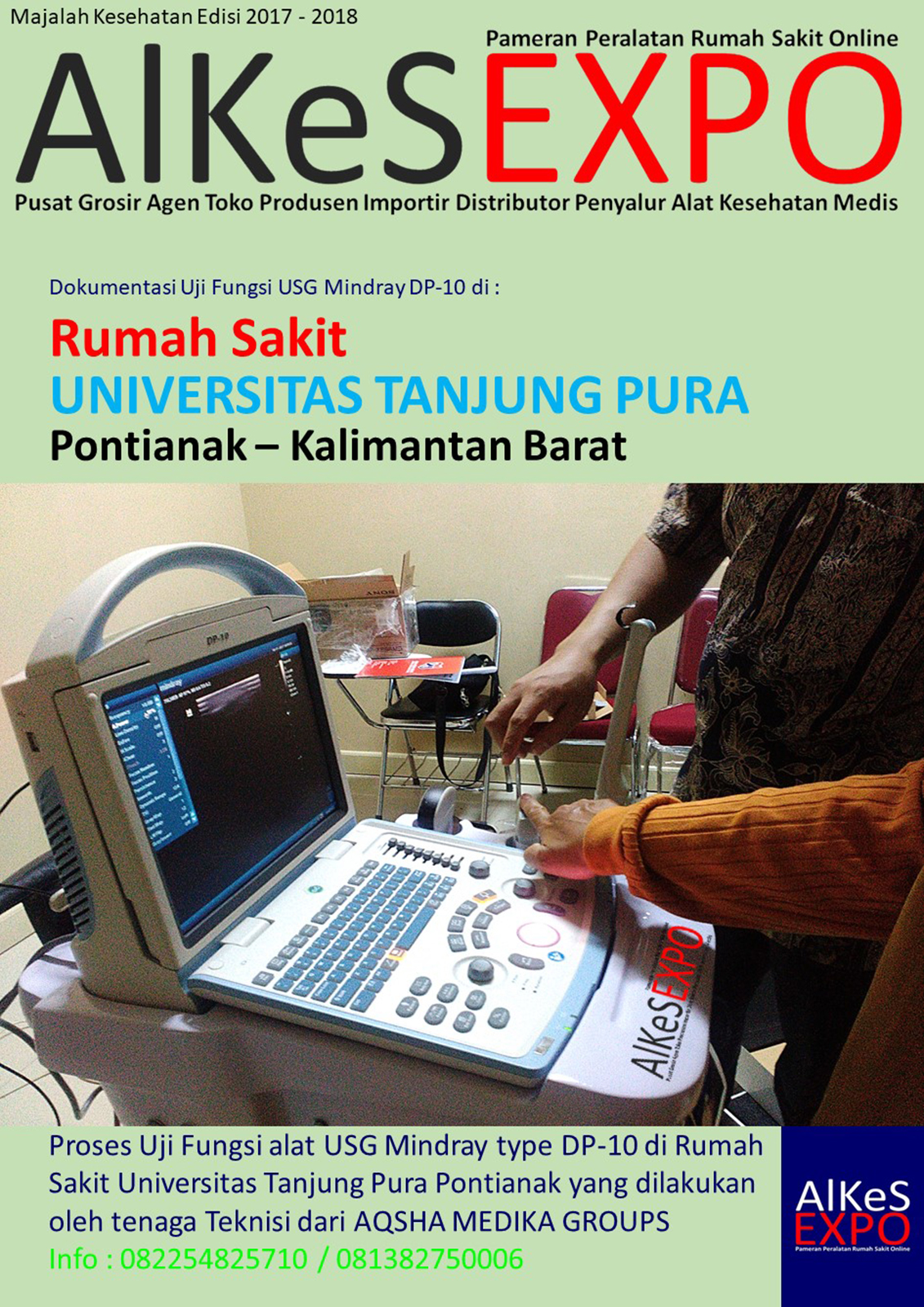 Uji Fungsi USG Mindray DP-10 di RS Universitas Tanjung Pura 2018