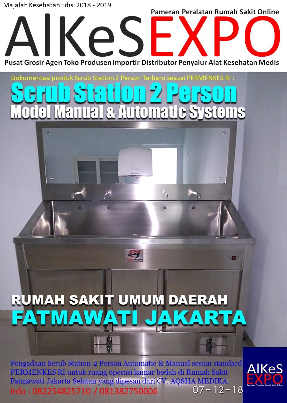 Scrub Station 2 Person Automatic And Manual Systems - Ruang Operasi Instalasi Kamar Bedah Rumah Sakit Fatmawati Jakarta Selatan